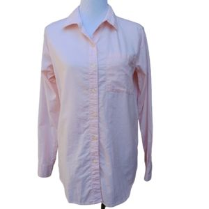 Old Navy| Blouse Light Pink Button-Up Cotton